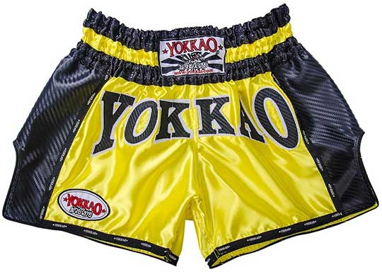 YOKKAO Yellow Carbon Muay Thai Shorts Customised Review