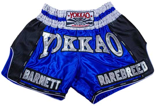 YOKKAO Blue Carbon Muay Thai Shorts Customised Review