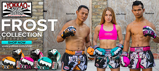 Yokkao Frost CarbonFit Shorts and Boxing Gloves