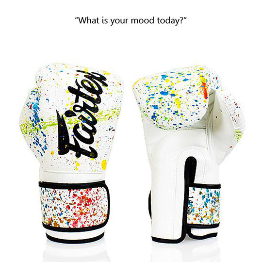 BGV14PT Fairtex The Painter White-Black Unique Boxing Gloves