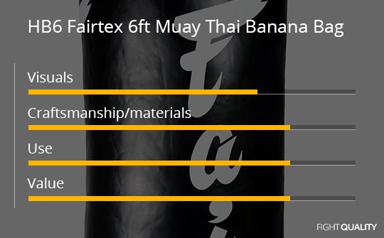 HB6 Fairtex 6ft Muay Thai Banana Bag Review