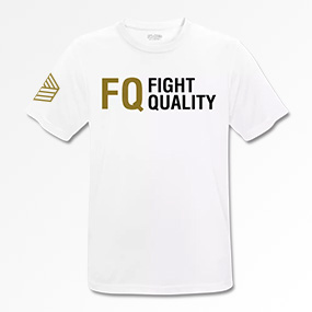 Mens White Breathable Training Brand T-Shirt