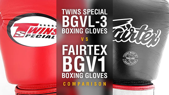 Twins BGVL-3 Boxing Gloves vs Fairtex BGV1 Boxing Gloves - Side By Side Comparison (Video)