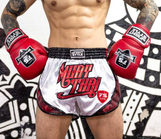 "InFightStyle ""Uncut"" Retro Short - White/Red Camo"
