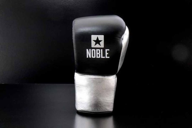 Noble FG1 10oz Lace up Limited Edition Fight Glove - Black/Silver
