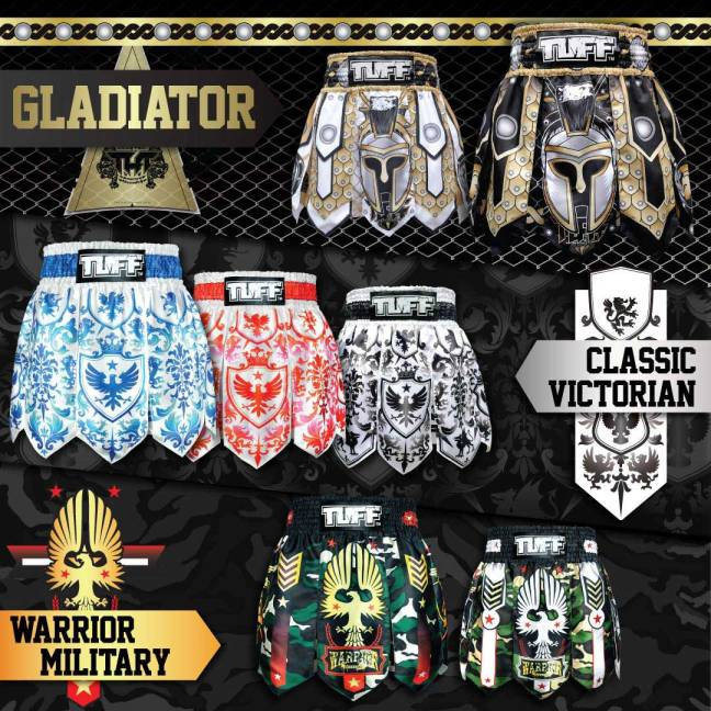 TUFF Gladiator Muay Thai Shorts 2018 Collection