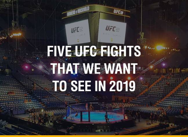 Five UFC Fights That We Want To See In 2019