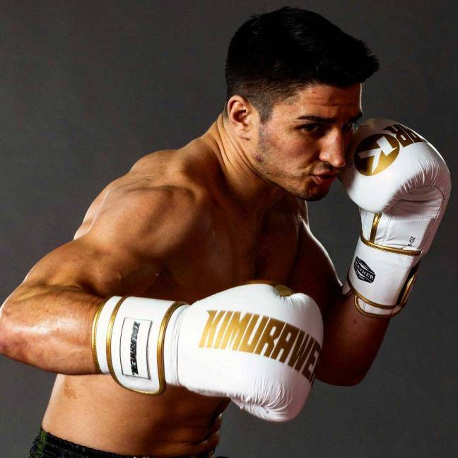 Kimurawear KBX Classic 16oz Boxing Gloves - White