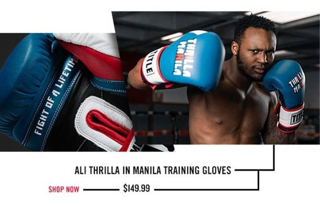 TITLE ALI Thrilla In Manila Training Gloves