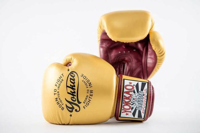 Yokkao Vintage Gold Muay Thai Boxing Gloves