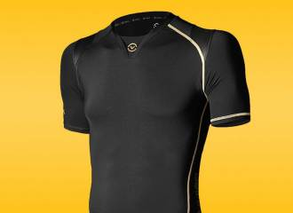 Virus Men's Energy Series Recovery and Endurance Bioceramic Posture Support X-Form Short Sleeve Compression Top (Au7x) Review