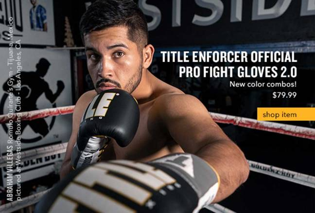 Title Enforcer Official Pro Fight Gloves 2.0